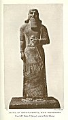 STATUE OF ASHUR-NATSIR-PAL, WITH INSCRIPTIONS<br> <i>From S.W. Palace of Nimroud: now in British Museum</i>.<br> Photo. Mansell