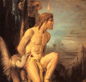 Prometheus, (Detail) by Gustave Moreau [19th cent.] (Public Domain Image)