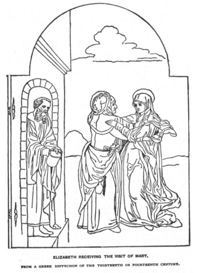 Mary visits elizabeth coloring pages coloring pages for Mary visits elizabeth coloring page