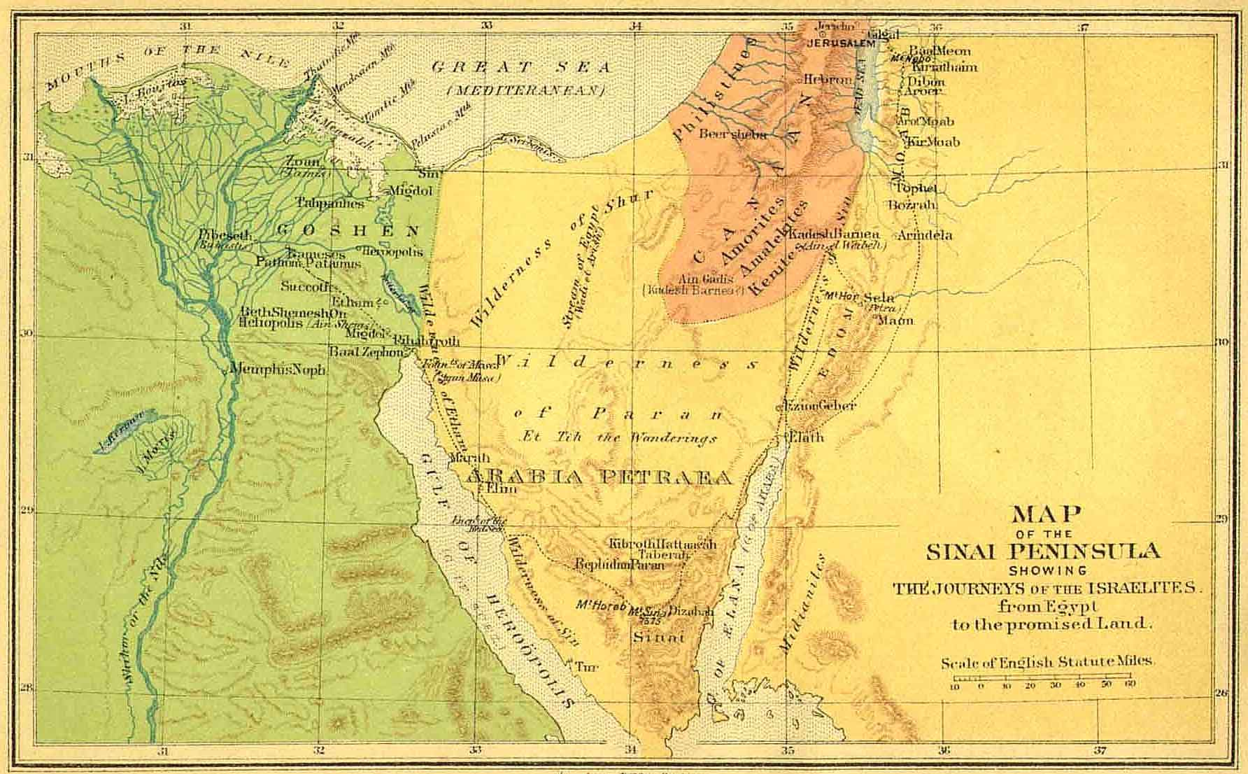 Bible Map Nfl Viewing Map - Map of egypt in old testament times