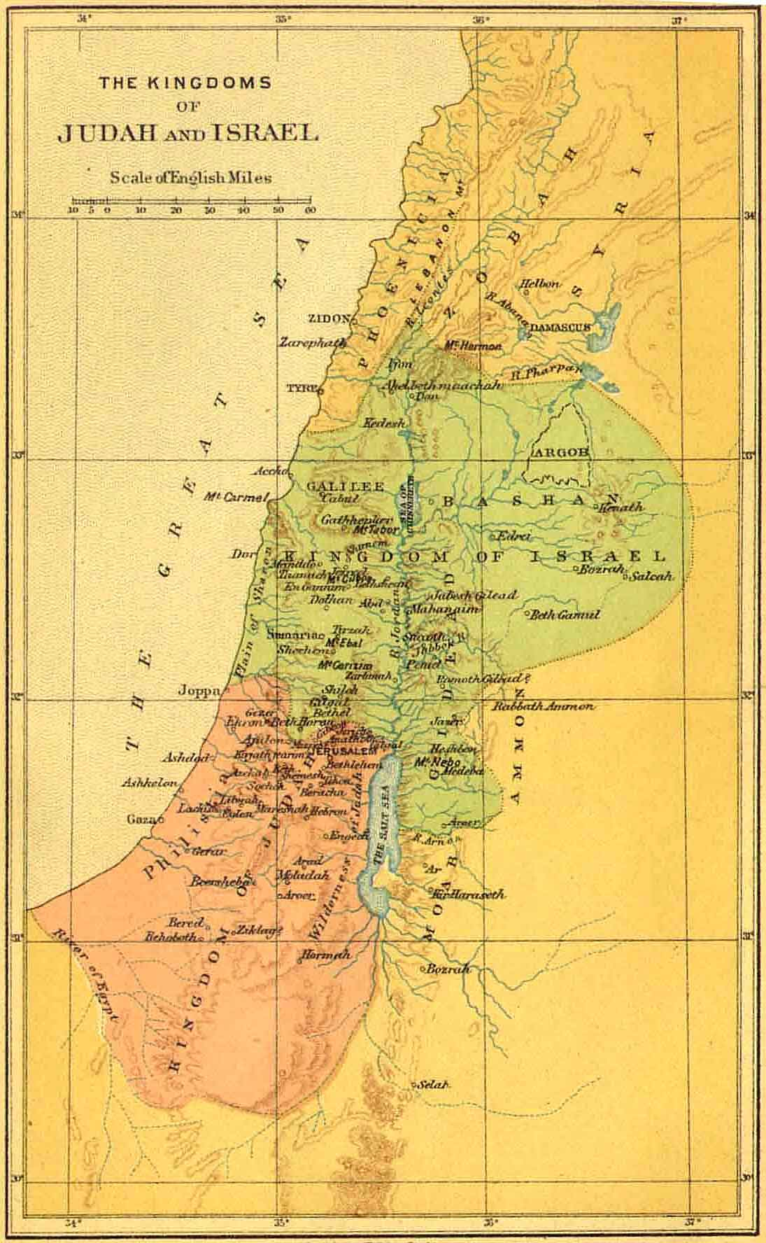 kingdom of israel and judah map pdf