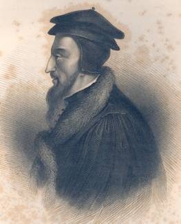 John Calvin. File from wikimedia. This image is in the public domain in the US.