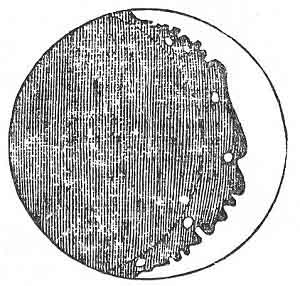 The first drawing of the Moon