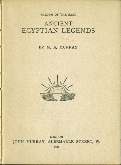 ancient egyptian legends  title page
