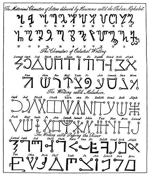 QABBALISTIC AND MAGIC ALPHABETS