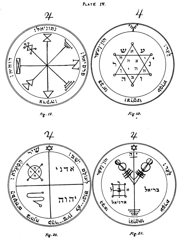 The Key Of Solomon Plates Plate Iv