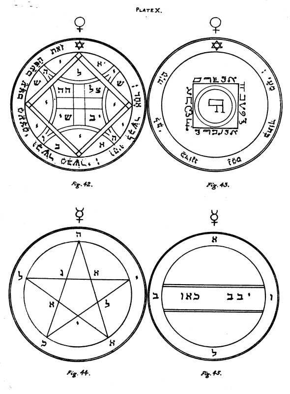 The Key of Solomon: Plates: Plate X