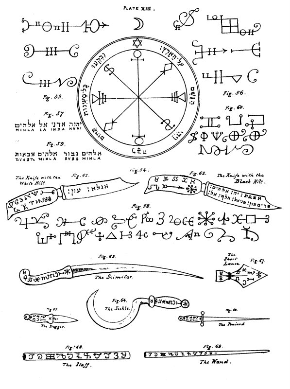 The Key Of Solomon Book Ii Chapter Viii Of The Knife Sword