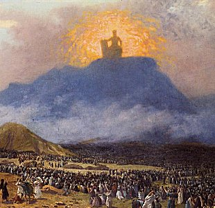 Jean Leon Gerome: Moses on Mount Sinai: Public domain image