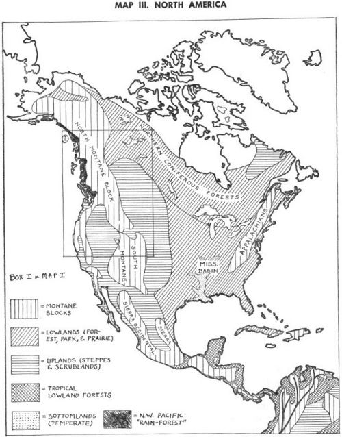 blank map of south america and central america. MAP III. NORTH AMERICA