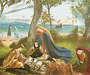A painting about The Mabinogion Courtesy: www.sacred-texts.com