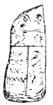 FIG. 17. LIBYAN SEPULCHRAL STELE. (Proceedings of the Soc. franc. de numism. et d'archéol., vol. ii., pl. iii. 3.)