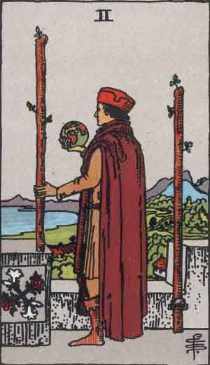 Tarot card cross reference two of wands
